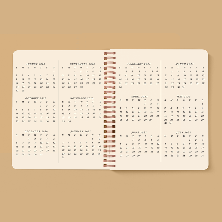 Serpentine Planner, July 2020 - August 2021, NAVY BLUE