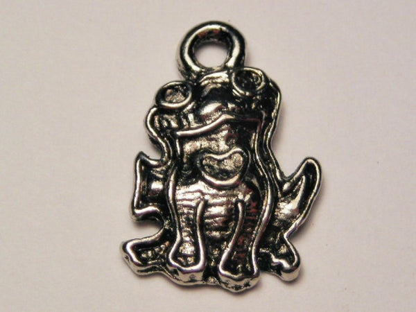Frog With Little Heart Genuine American Pewter Charm