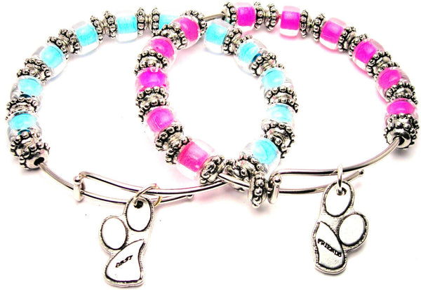 best friends bracelet, best friends jewelry, bff jewelry, paw print jewelry, animal rescue bracelet
