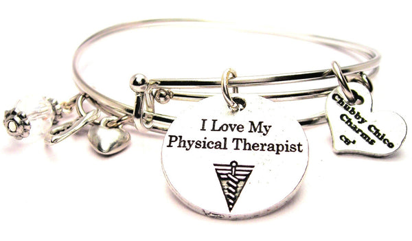 physical therapist bracelet, physical therapy bracelet, therapy jewelry, wife jewelry