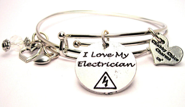 electrian bracelet, wife bracelet, wife jewelry, I love my husband bracelet