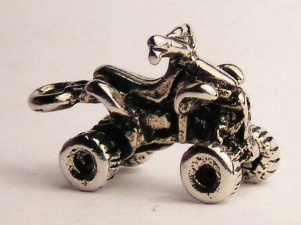 Four Wheel ATV Genuine American Pewter Charm