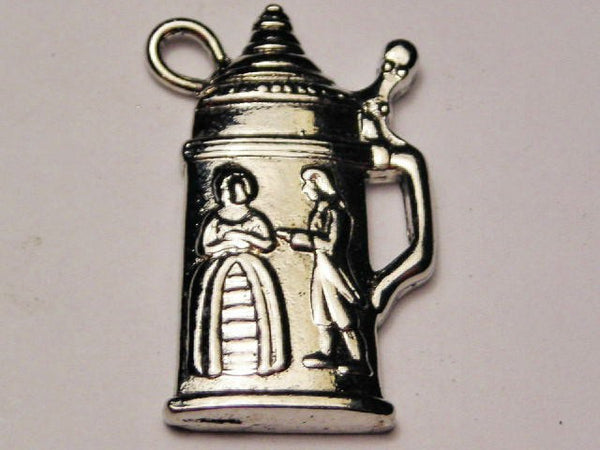 Collectible Stein Charm Genuine American Pewter Charm