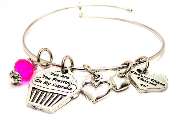 You Are The Frosting On My Cupcake Expandable Bangle Bracelet