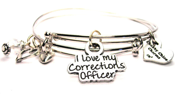 corrections officer bracelet, corrections officers wife bracelet, correction officers bangles, wife bracelet
