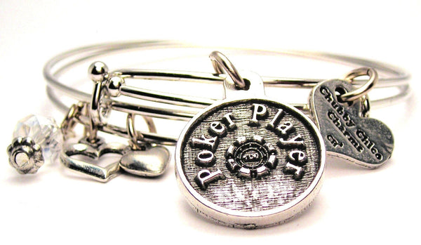 poker player bracelet, poker bracelet, poker jewelry, card player bracelet, card player jewelry