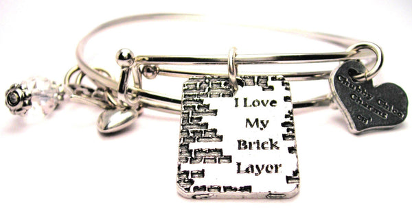 I love my brick layer bracelet, brick layer bangles, occupation bracelet,