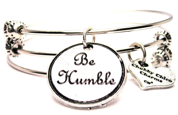 Be Humble Triple Style Expandable Bangle Bracelet