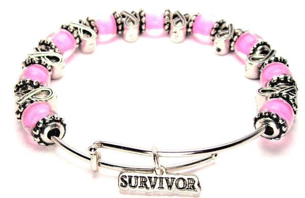 survivor bracelet, survivor jewelry, cancer survivor jewelry, cancer survivor bracelet, cancer awareness