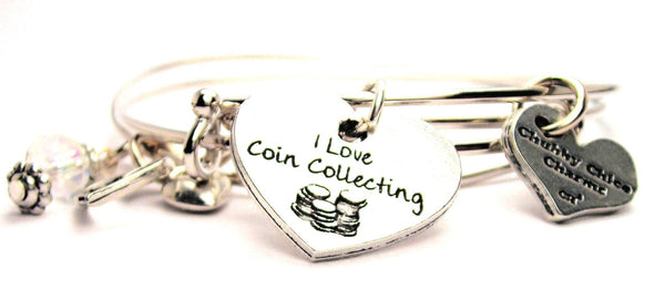 coin collecting bracelet, collector jewelry, hobby bracelet