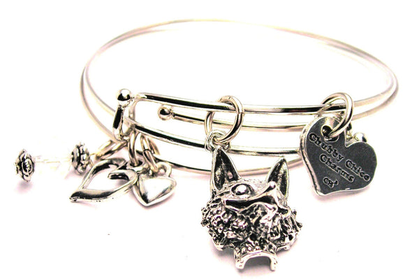 fox bracelet, fox bangles, fox jewelry, fox head bracelet, animal bracelet