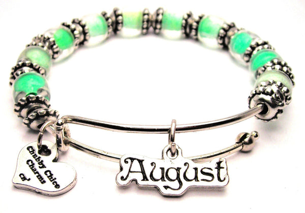 august bracelet, birth month bracelet, zodiac bracelet, birthstone jewelry, birthstone bracelet