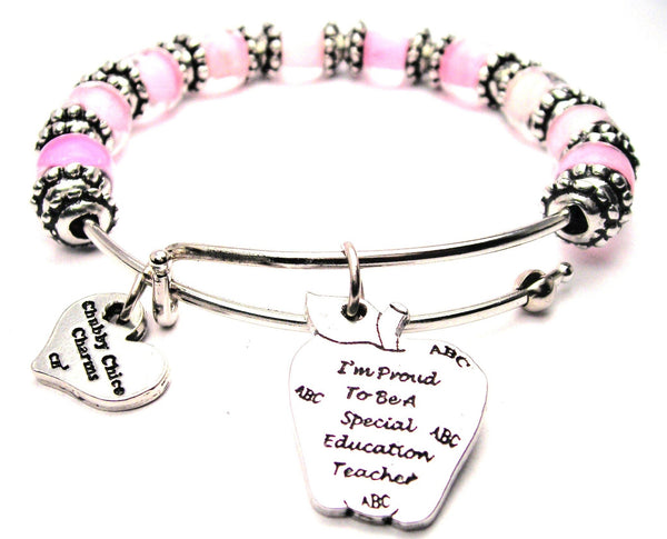 teacher bracelet, special education bracelet, proud teacher jewelry, education bracelet, teacher bangles