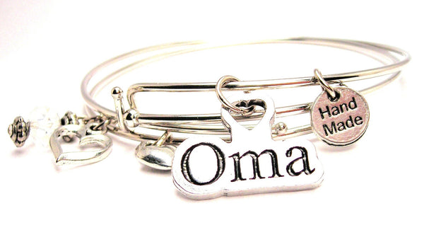 oma bracelet, grandmother bracelet, grandma bracelet, German language bracelet, grandmother jewelry