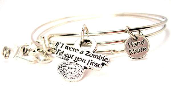 zombie bracelet, zombie jewelry, brains jewelry, Halloween jewelry, Halloween bracelet, horror bracelet