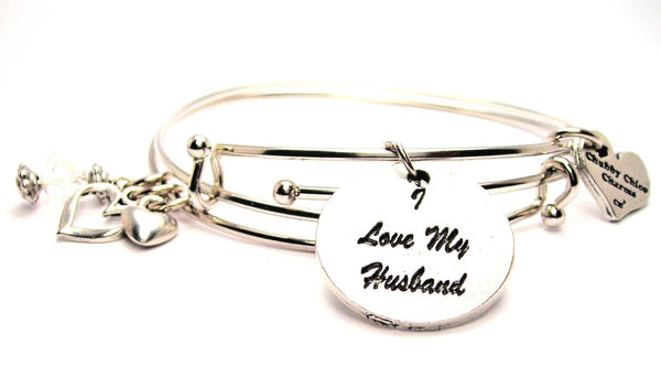 wife bracelet, wife jewelry, husband bracelet, I love my husband bracelet, love jewelry, family member jewelry