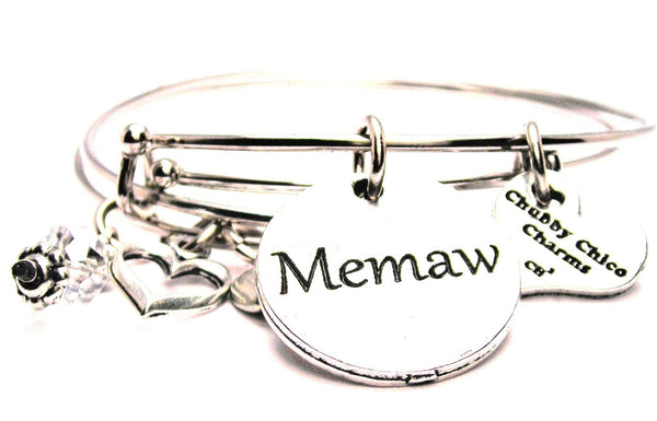 Memaw bracelet, Memaw jewelry, grandmother bracelet, grandmother jewelry, grandma jewelry, family member jewelry