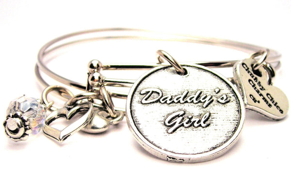daddy's girl bracelet, daddy's girl bangles, daddy's girl jewelry, dad jewelry, father jewelry, family jewelry