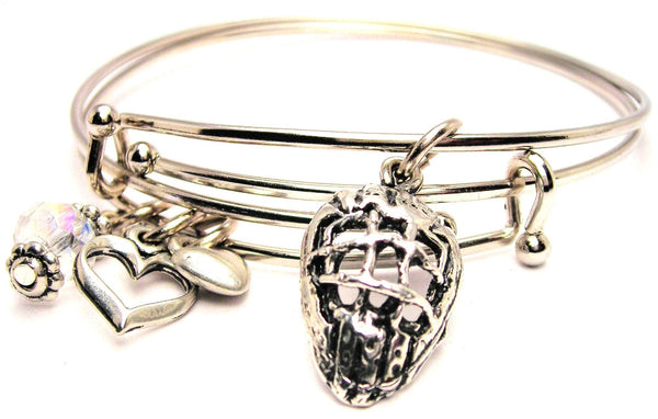 hockey mask bracelet, hockey bracelet, hockey bangles, sports bracelet