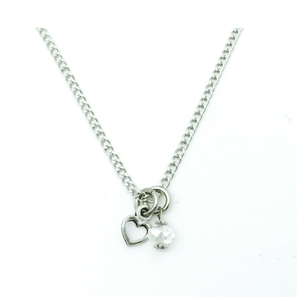 Blank Necklace with Small Heart