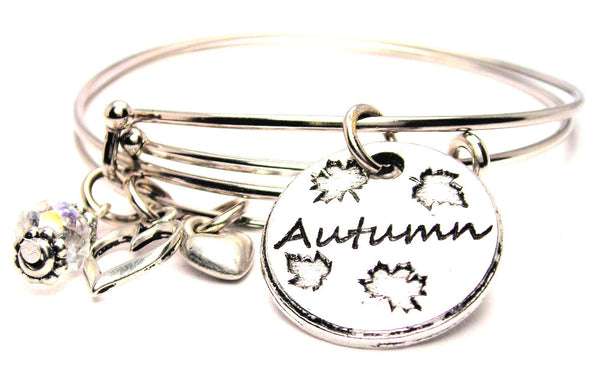 autumn bracelet, autumn jewelry, autumn bangles, seasonal jewelry, fall jewelry
