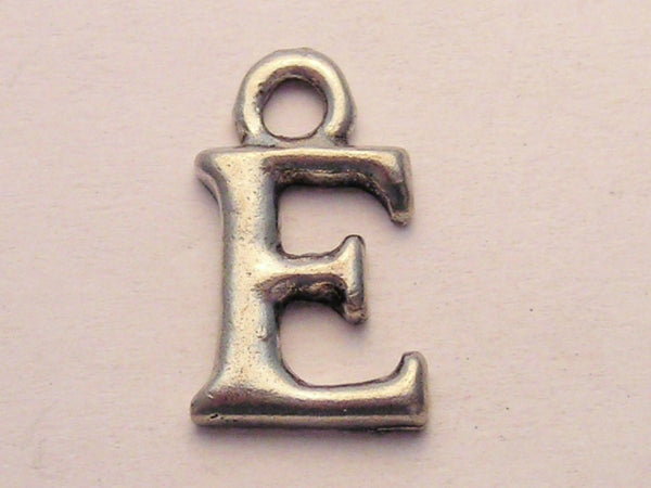 Initial E Genuine American Pewter Charm