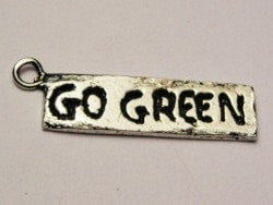 Go Green Genuine American Pewter Charm