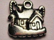 Gingerbread House Genuine American Pewter Charm
