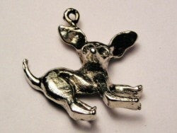 Crazy Chihuahua Genuine American Pewter Charm