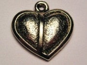 Half My Heart Genuine American Pewter Charm