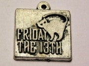 Friday The 13Th Genuine American Pewter Charm