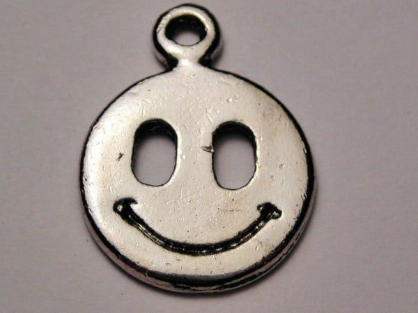 Happy Face Genuine American Pewter Charm