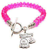 Check Those Boobies,  Check Those Boobies Charm,  Check Those Boobies Bracelet,  Check Those Boobies Jewelry,  Breast Cancer Charm,  Breast Cancer,  Breast Cancer Bracelet,  Breast Cancer Jewelry,  Crystal Bracelet,  Toggle Bracelet