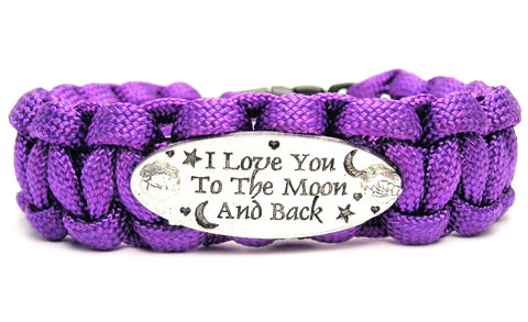 I Love You To The Moon And Back 550 Military Spec Paracord Bracelet