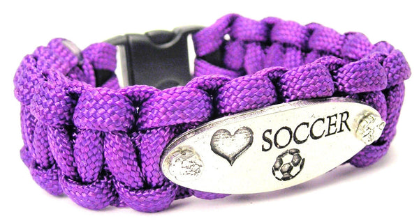Love Soccer 550 Military Spec Paracord Bracelet
