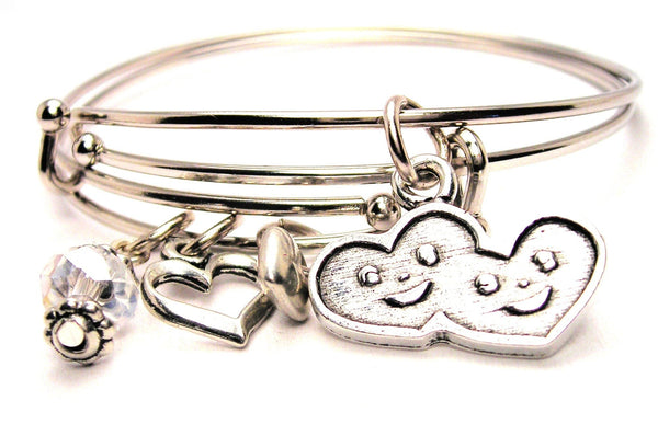 heart bracelet, love bracelet, heart jewelry, heart bangles, love jewelry