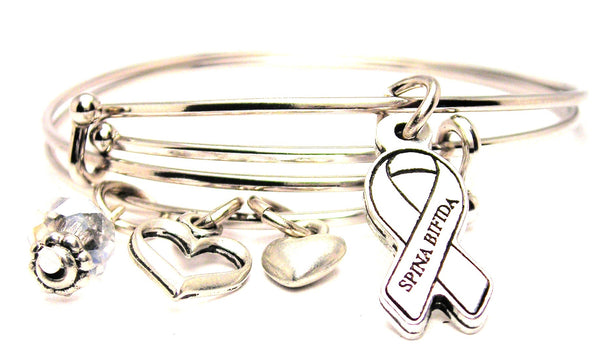 Spina bifida jewelry, Spina bifida awareness jewelry, awareness jewelry, awareness ribbon bracelet