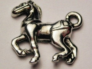 Clydesdale Horse Genuine American Pewter Charm