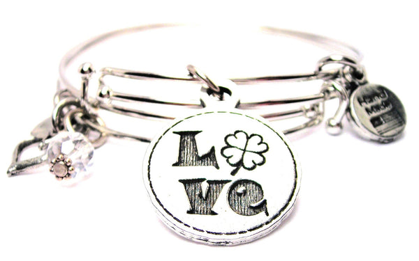 four leaf clover bracelet, four leaf clover bangles, four leaf clover jewelry, Irish bracelet
