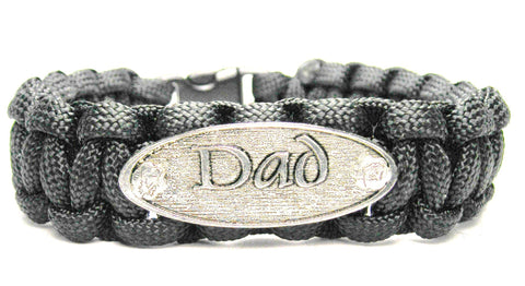 Dad Black 550 Military Spec Paracord Bracelet