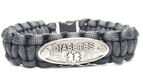 Diabetes 550 Military Spec Paracord Bracelet
