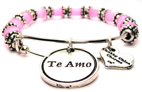 te amo bracelet, spanish language jewelry, I love you bracelet, love bracelet