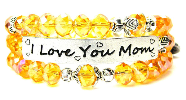 I love my mom bracelet, I love you bracelet, mom bracelet, mom jewelry, mother jewelry