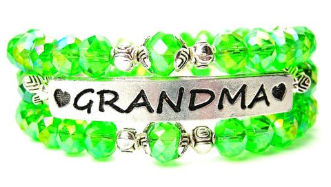 grandmother bracelet, grandmother jewelry, family jewelry, grandma bracelet, grandma bangles