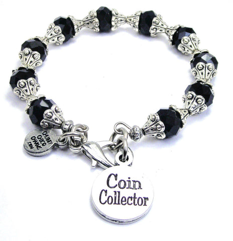 Coin Collector Capped Crystal Bracelet