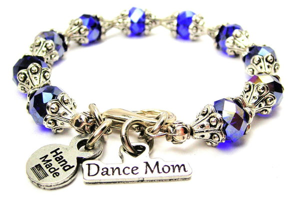Dance Mom Capped Crystal Bracelet