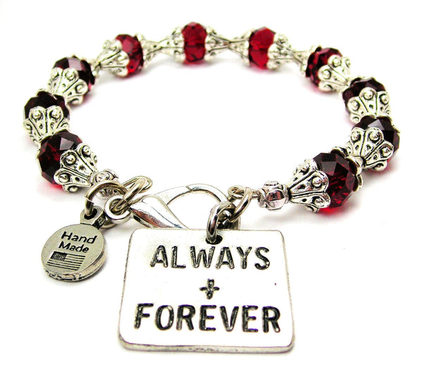 Always And Forever Capped Crystal Bracelet