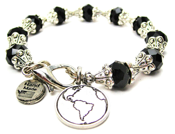 Mother Earth Capped Crystal Bracelet