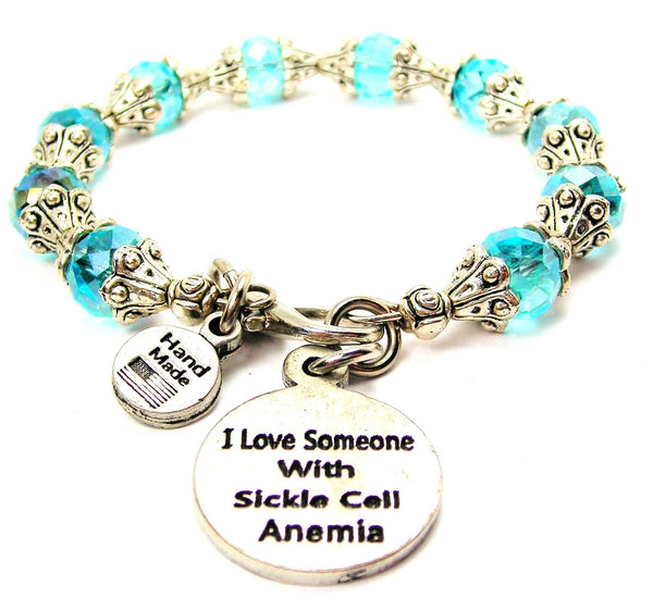 I Love Someone With Sickle Cell Anemia Capped Crystal Bracelet