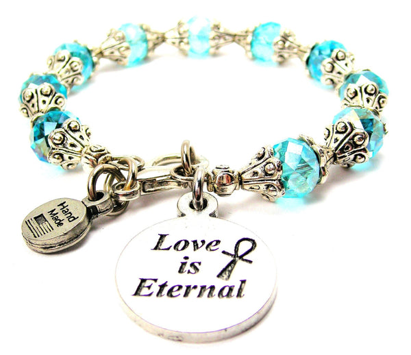 Love Is Eternal Capped Crystal Bracelet